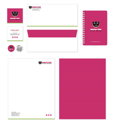 Happy Pets Print Collateral Design