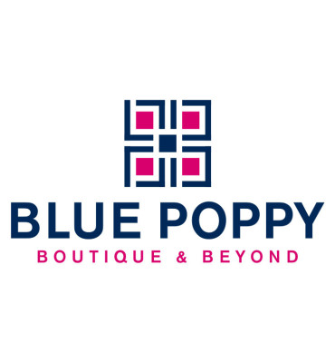 Blue Poppy Boutique Logo Design