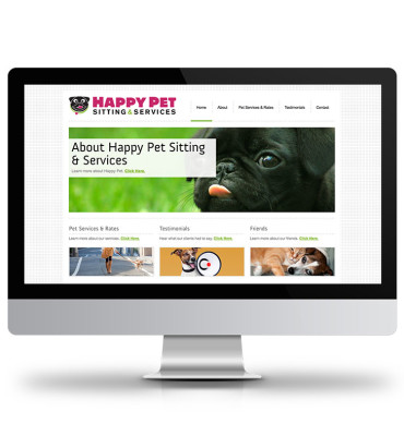 Happy Pets Website Design