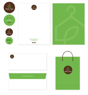 House of Sage Print Collateral Design