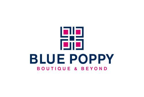 Blue Poppy Boutique Logo Design